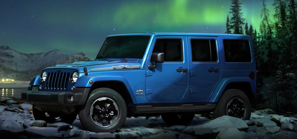 Die Sonderedition Jeep Wrangler Polar vor dem Nordlicht weckt Abenteuergelüste