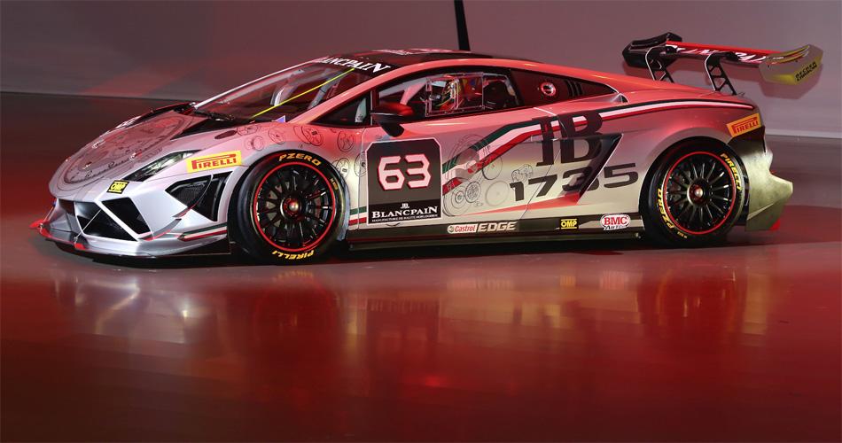 Das Vorbild des Gallardo Squadra Corse ist das Rennfahrzeug der Blancpain Super Trofeo