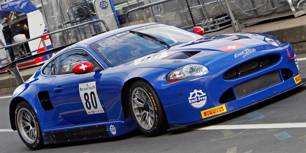Der Emil Frey GT3 Jaguar konnte beim BES-Finale sowohl vom Speed her als optisch überzeugen.