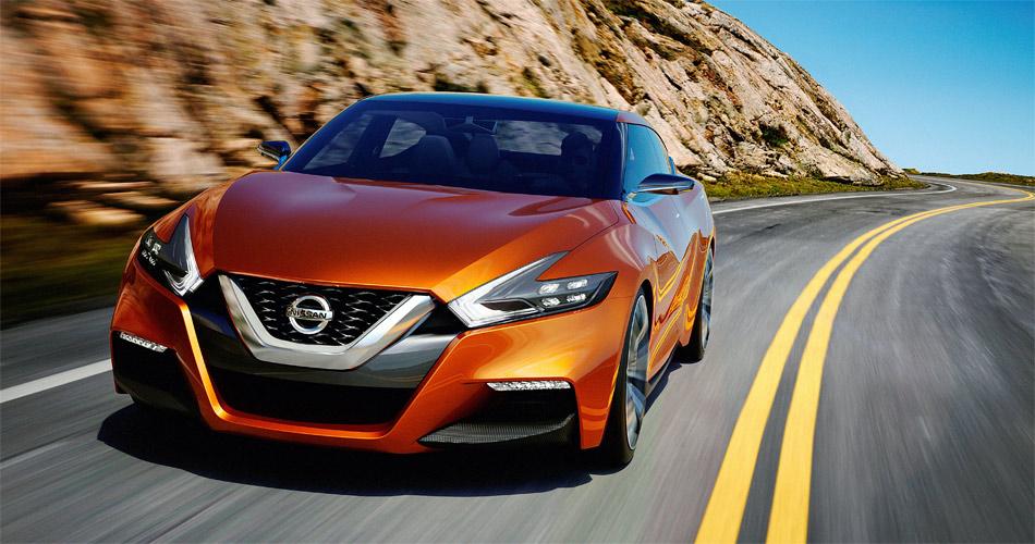 Eine Spezialität des in Detoit enthüllten Nissan Sport Sedan Concept ist die charakteristische, V-förmige Frontpartie.