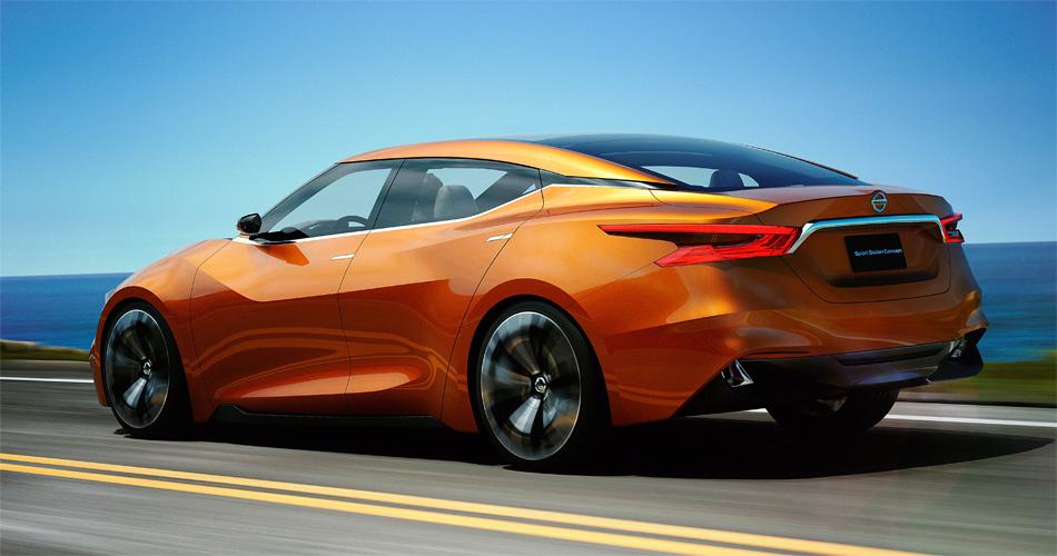 Das wie ein Sportcoupé Nissan Sport Sedan Concept soll in vielen Merkmlane das Design zukünftiger Nissan-Modelle vorwegnehmen.