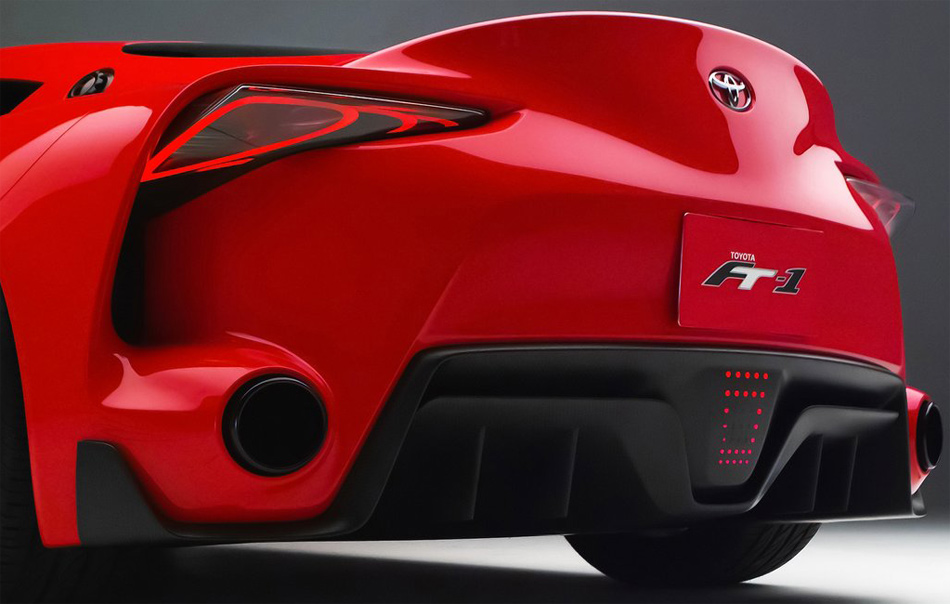 Auch in der stark zerklüfteten Heckpartie des Toyota FT-1 Concepts steckt viel Wow-Effekt.