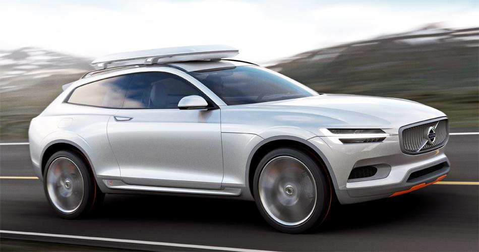 Das elegante Volvo XC Coupé Concept wird an der Detroit Auto Show 2014 enthüllt.